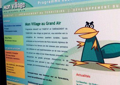 Réalisation d'un site éducatif pour le CAUE Parcs Chartreuse et Vercors