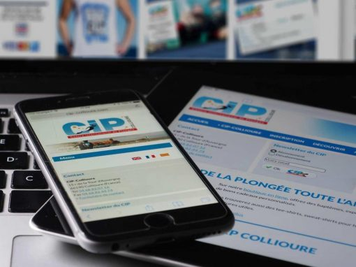 Réalisation d'une boutique en ligne CIP Collioure