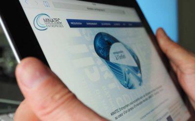 Réalisation du site Internet Minatec Entreprises