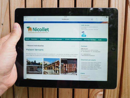 Nouveau site WordPress pour Nicollet Charpentes
