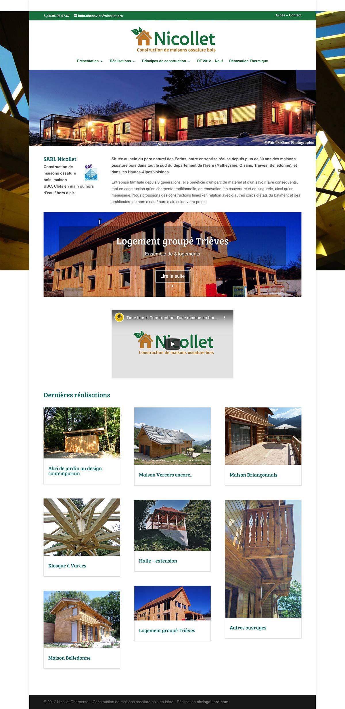 Nicollet site Internet
