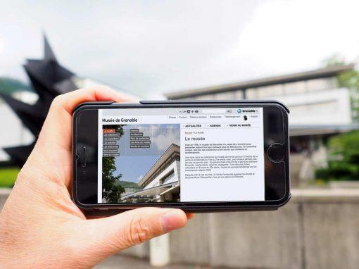 Conception, Webdesign et alimentation du site Internet Musée de Grenoble