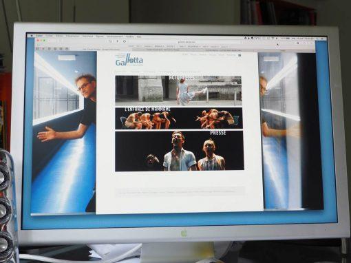 Conception et réalisation du site Internet de Jean-Claude Gallotta – CCNG