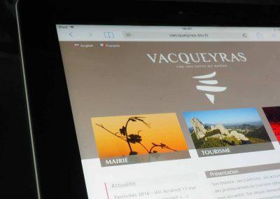 Création du site de la Mairie de Vacqueyras