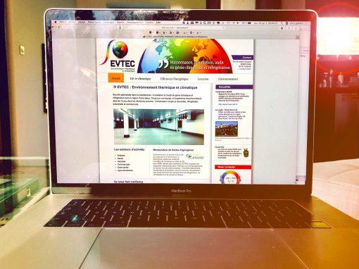 Création du site Internet d'EVTEC à Vizille