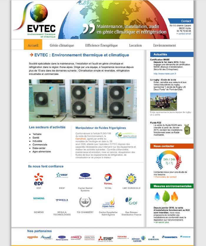 Evtec Webdesign Vizille