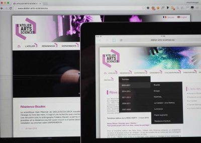 Création du site web de L'Atelier Arts Sciences à Grenoble