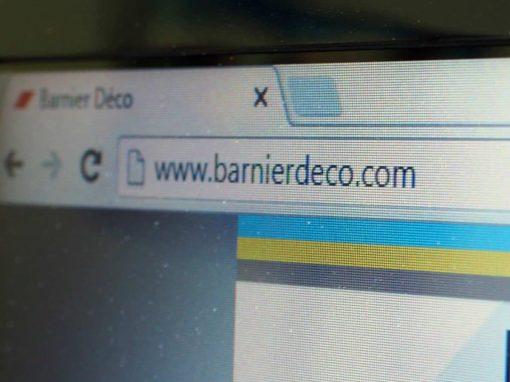 Webdesign pour le site Internet Barnier Déco