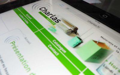 Création du logo et du site web Charlas électronique