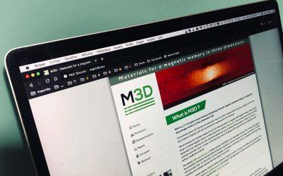 Création du logo et du site web mem3d avec le CNRS Grenoble