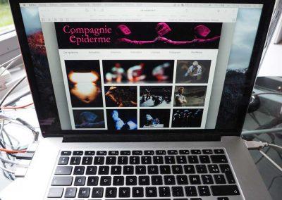Création du site web de la Compagnie Épiderme à Grenoble