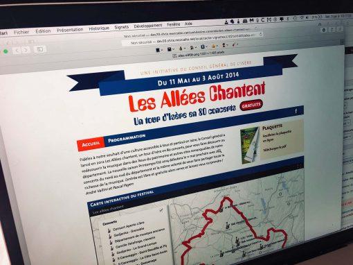 Création du site Internet du festival Les Allées Chantent à Grenoble