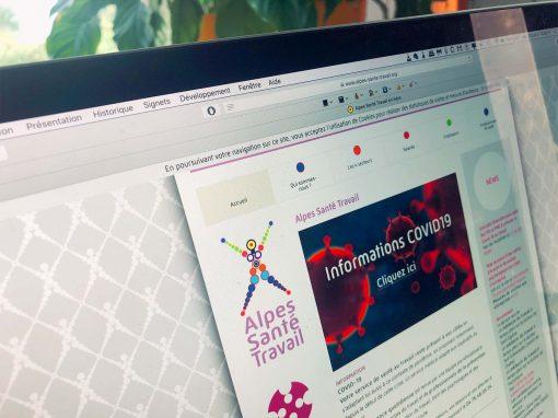 Webdesign pour Alpes Santé Travail Grenoble