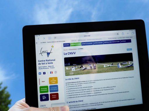 Création du site Internet du Centre National de Vol à Voile