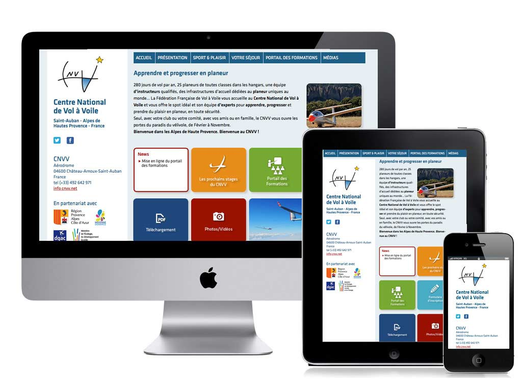 webdesign grenoble site internet cnvv responsive