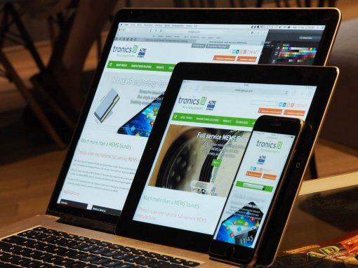 Refonte du site Internet de Tronics Group à Crolles