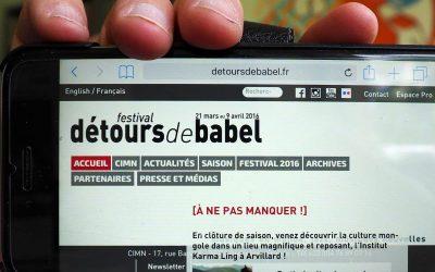 Création du site internet du festival Détours de Babels à Grenoble