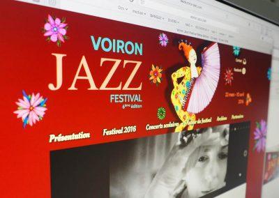 Création du site web du Voiron Jazz Festival