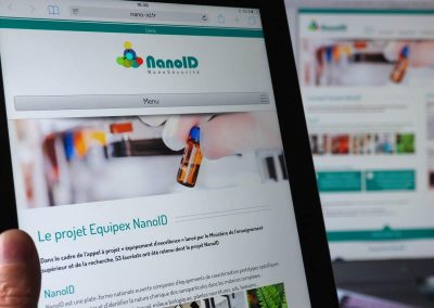 Création du site Internet Nano-Id – CEA Grenoble