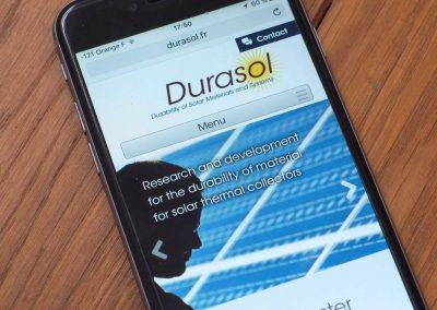 Création du logo et du webdesign pour le site Durasol CEA – INES
