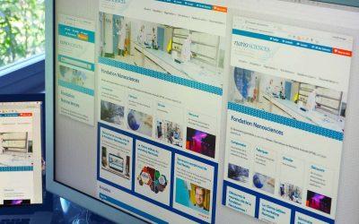 Webdesign pour le site Fondation Nanosciences