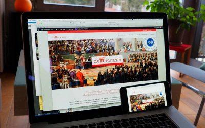 Création du logo et Webdesign pour Democrasci