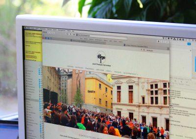 Conception et réalisation du site Internet du collectif de musiciens La Forge à Grenoble