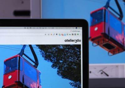 Conception du site Internet de l'Atelier 360 Agence Design