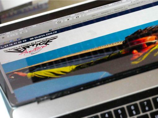 Création et optimisation SEO pour le site de Vertige Aventures, saut à l'élastique dans le Vercors