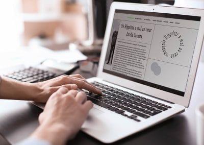 Création du site Internet de la Compagnie de Théâtre Hippolyte a mal au coeur à Paris