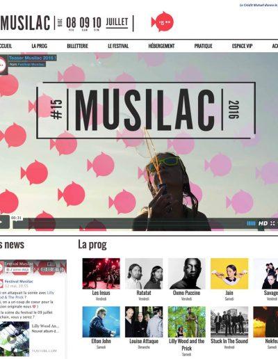 Webdesign Musilac 2016