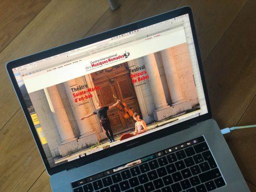 Création du site du Centre Internationale des Musiques Nomades à Grenoble