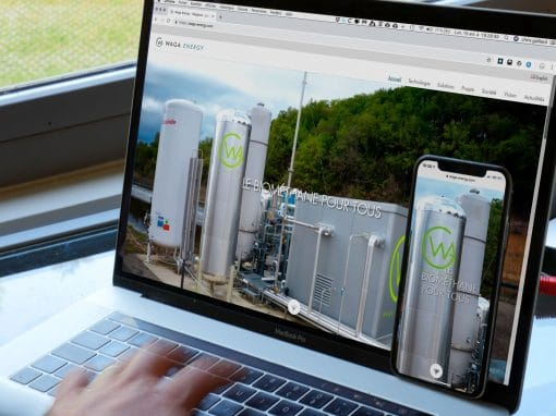 Création d'un site WordPress pour Waga Energy à Grenoble
