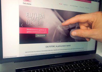 Création du site Internet de la société Calystene à Grenoble