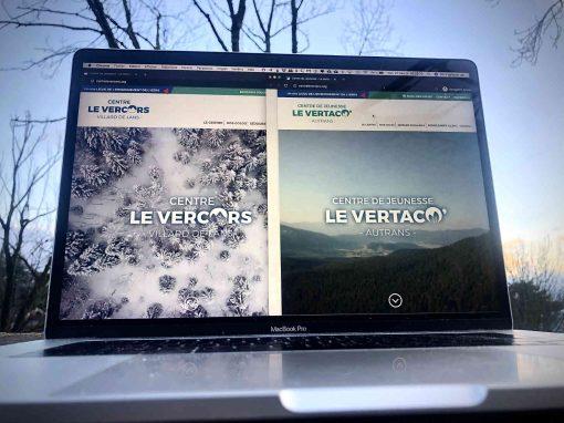 Création des sites web pour deux centre de vacances dans le Vercors