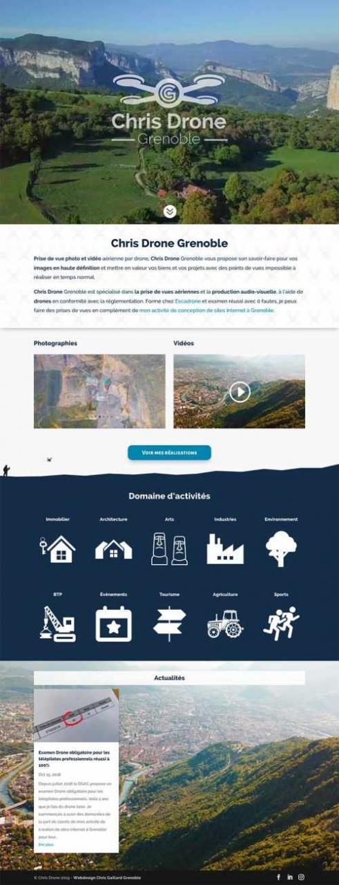 Prise de vues drone pour sites Internet à Grenoble