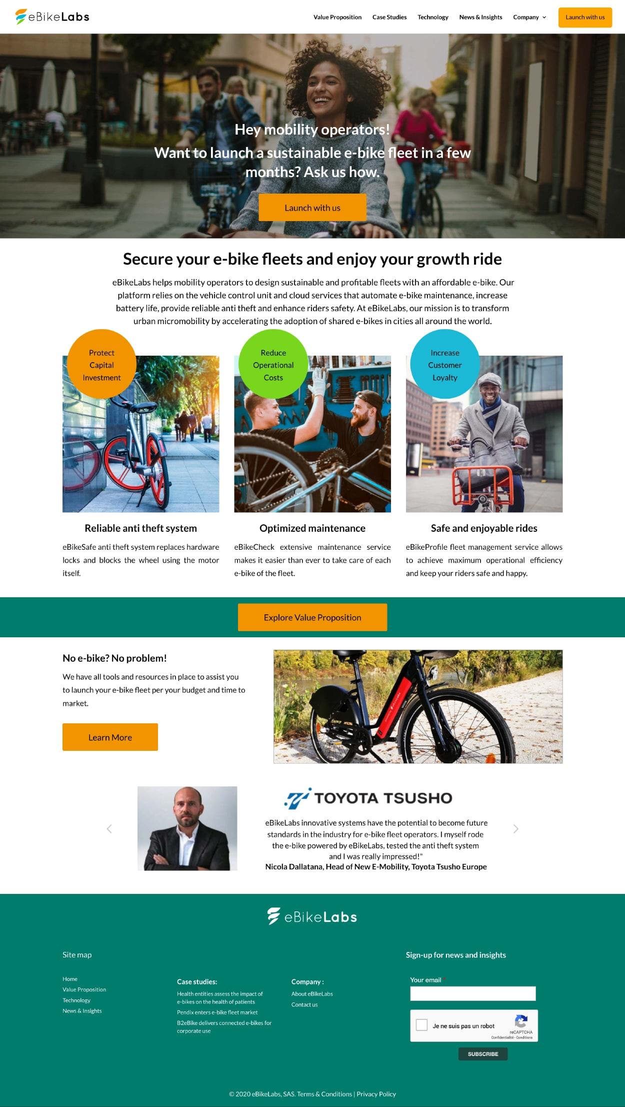 Création du site Internet d'une start-up grenobloise