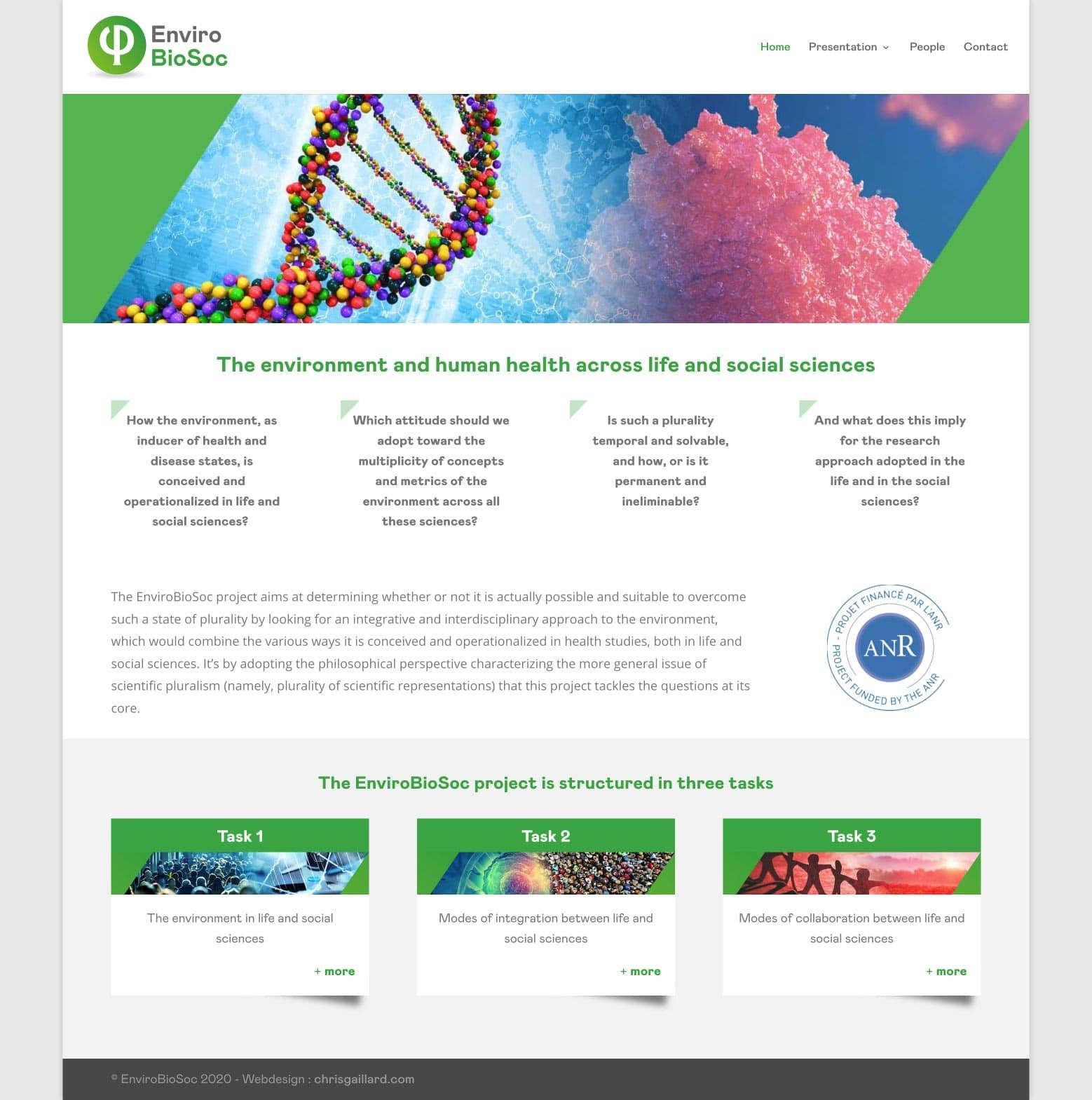Création du logo Enviro BioSoc