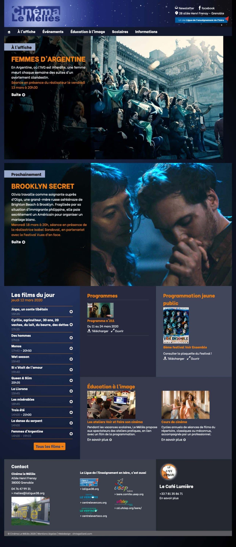 Création du site Internet du cinéma le Méliès à Grenoble