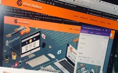 Nouveau site web avec WordPress enfin!