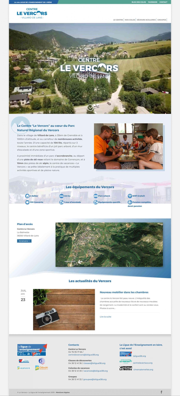 Webdesign centre vacances Vercors