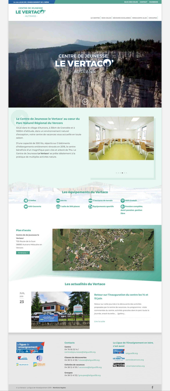 Webdesign centre vacances Vercors vertaco