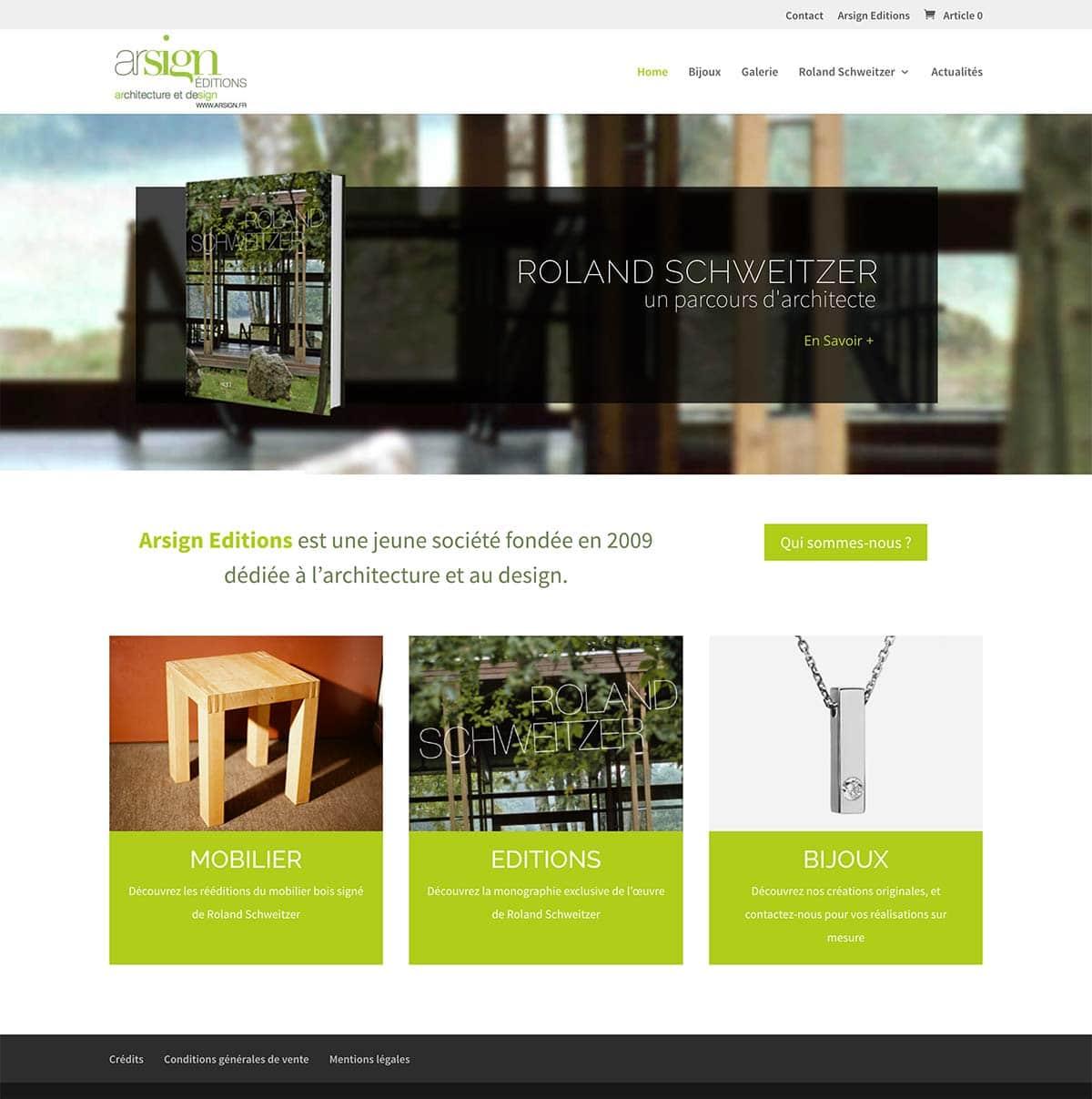 Le site web de la maison d'édition
