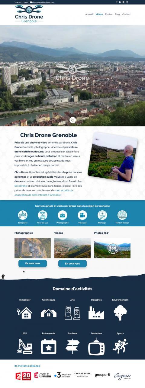 Création du site Internet Grenoble Drone