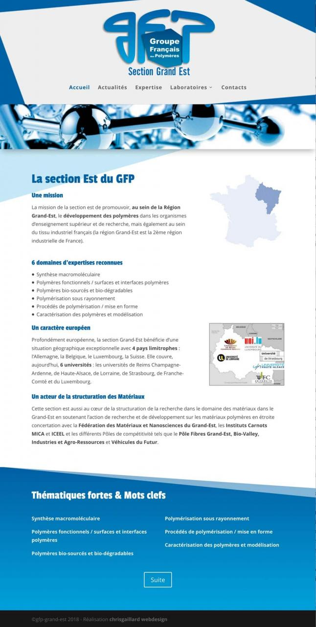 groupe-francais-des-polymeres webdesign