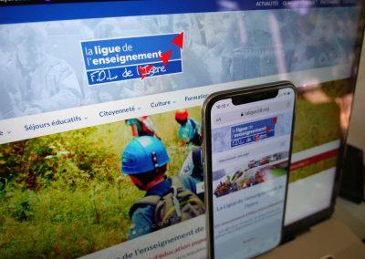 Création du site de La Ligue de l'enseignement de l'Isère