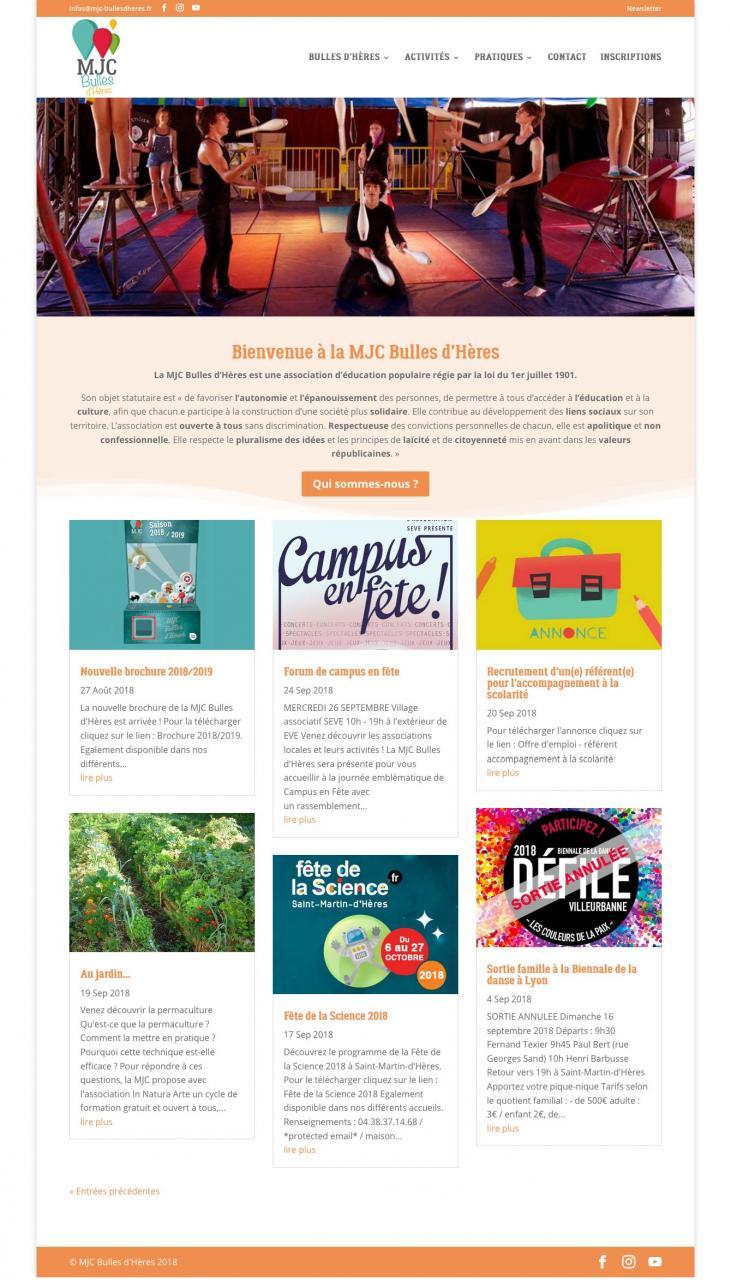 Webdesign MJC Grenoble région