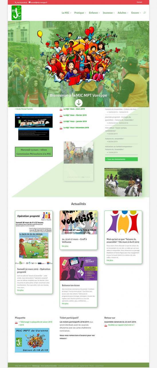 mjc voreppe webdesign