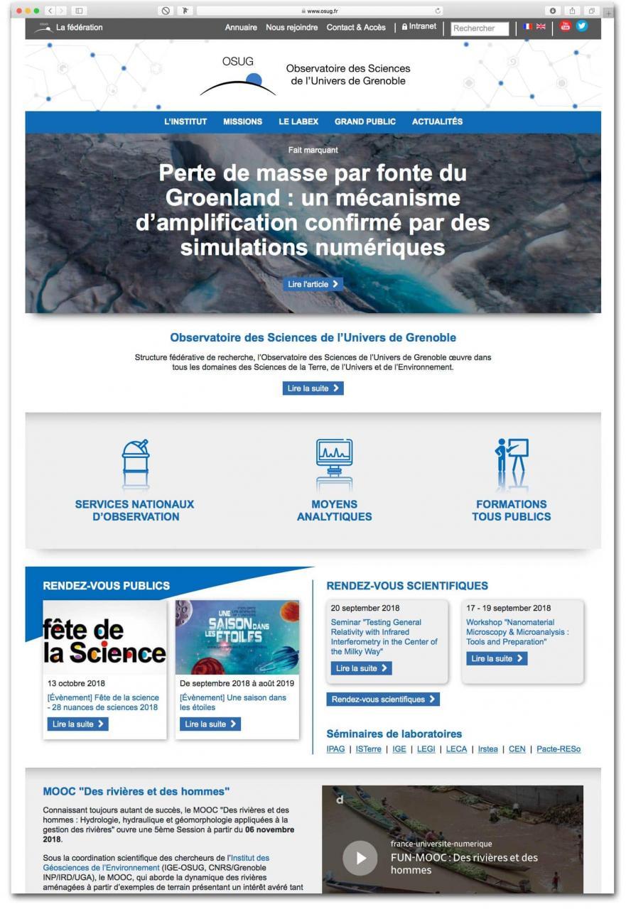 Site Internet scientifique Grenoble Webdesign
