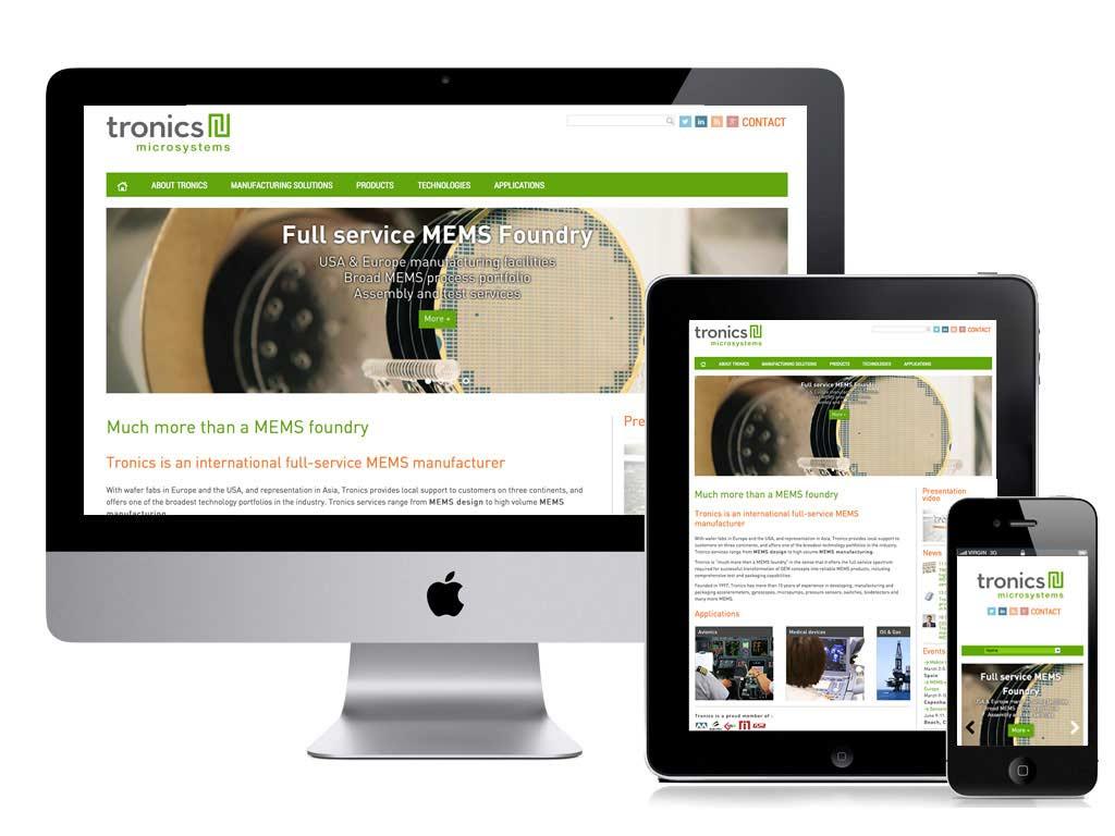 responsive webdesign tronics